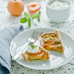 Apricot and Pistachio Frangipane Tart by Meeta K. Wolff
