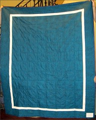 Rhapsody in Blue and Purple quilt, the back