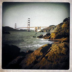 On The Rocks (A. Vandalay) Tags: sanfrancisco california delete10 delete9 delete5 delete2 delete6 delete7 save3 delete8 delete3 save7 delete delete4 save save2 save4 goldengatebridge goldengate save5 save6 bakerbeach delete11 iphone3g hipstamatic deletedbythehotboxgroup