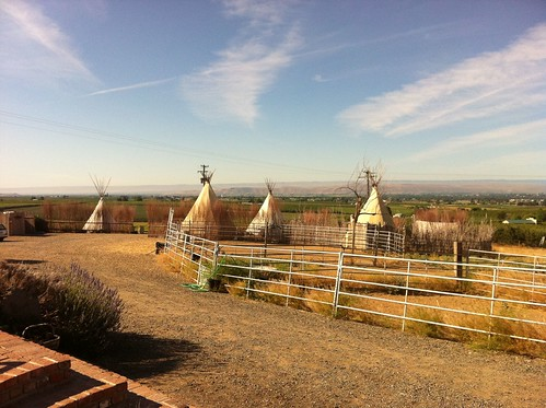 At the teepees