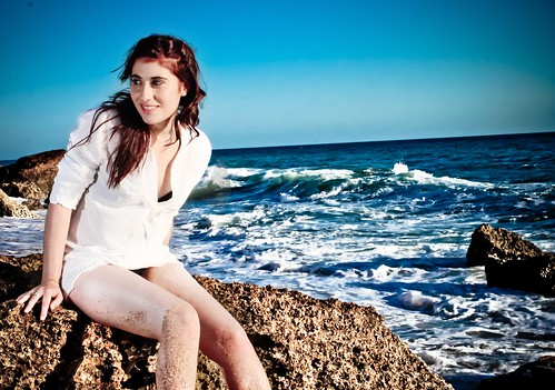 フリー写真素材, 人物, 女性, 海岸,