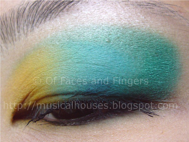 sleek curacao aquatic blue yellow eye look 3