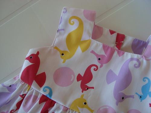 Vestido cavalos marinhos - 1 ano