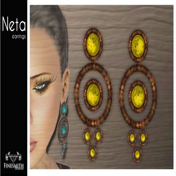 Neta Earrings Jasper