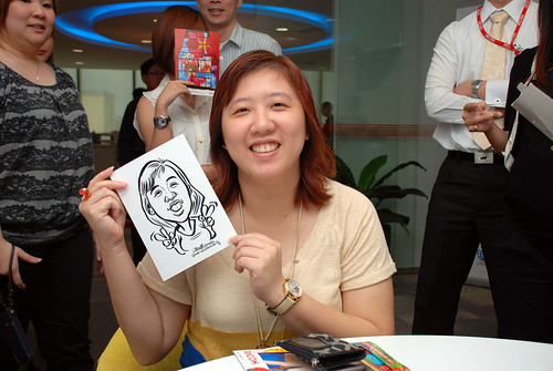 Caricature live sketching for Ricoh Roadshow - 26