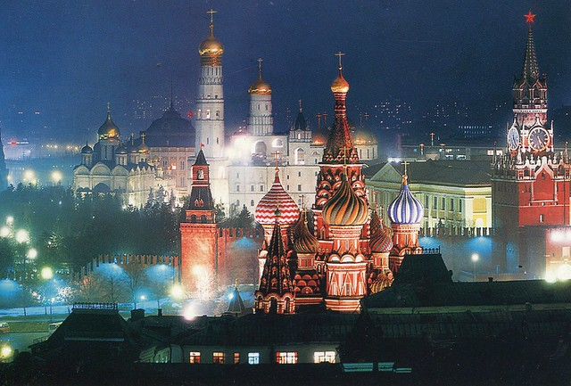 Moscow. The Kremlin at night.