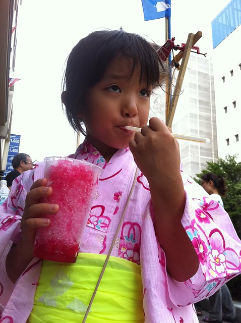 浦和祭りでかき氷
