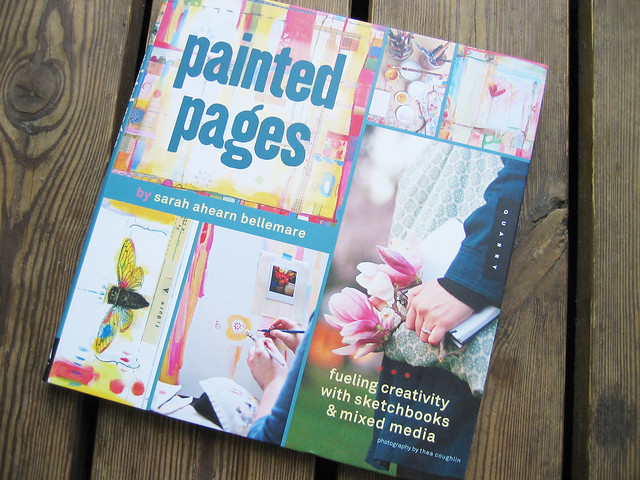 Painted pages by Sarah Ahearn