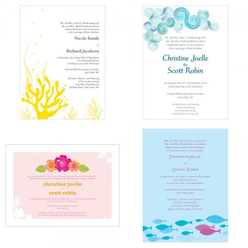 Modern Beach Wedding Invitations