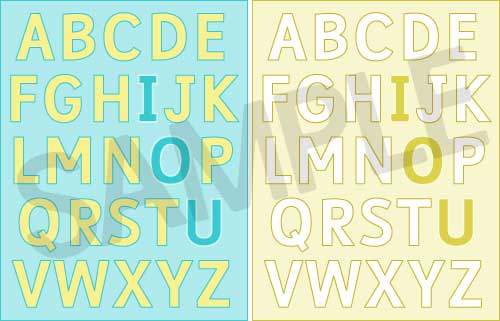 Funky Alphabet Printable IOU Set