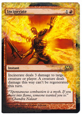 Incinerate Altered Art Magic the Gathering MTG Card Art MTG Art Templar