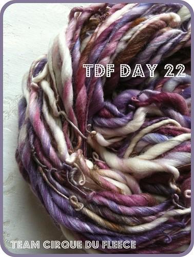 tdf day 22 // merino/silk single