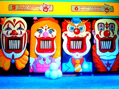 4 heads (~mckinley~) Tags: california park vacation santacruz amusement clown american heads beachboardwalk iphoneography