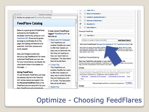 Blogging Tools - Feedburner Optimize