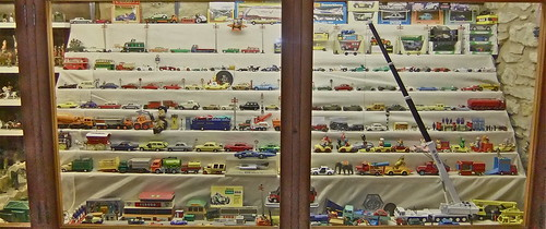 Dinky and Corgi cars at the museum