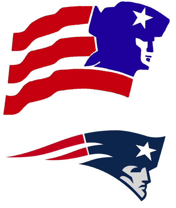 Uni watch traces the lineage of the patriots flying elvis logo go back and look at that first article which shows the proposed new design at the top of the page heres how that logo was supposed to look in color voltagebd Choice Image