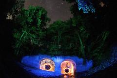 Plethora of Lights (CJY - Flash) Tags: light wool water canon painting stars photography fireworks steel drop fisheye