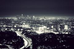 Sometimes, life is simpler in black & white.. (dj murdok photos) Tags: california city longexposure urban lights losangeles sony nighttime hollywood fullframe alpha zoomlens 70300g a850