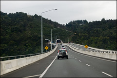 Driving on the Northern Motorway (SH1)