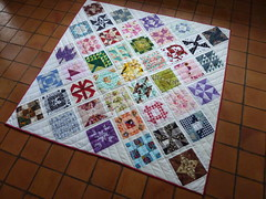 Farmer's Wife Quilt - finished (-Vivie-) Tags: white point quilt farmers finished wife blocks 41 on scrappy sashing
