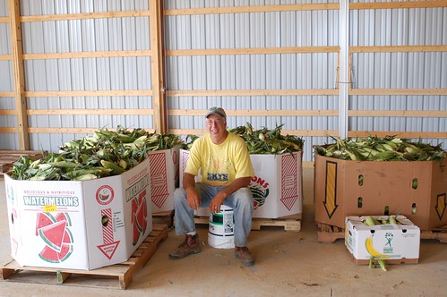 "State Executive Director Charles Cawley of Maryland donated over 2,000 lbs of sweet corn to ""Feds Feed Families."""