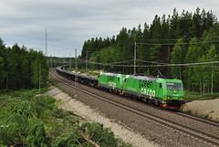 Re 1436+Re 1431, Bensjö (RobbyH83) Tags: sverige greencargo mittbanan norrastambanan