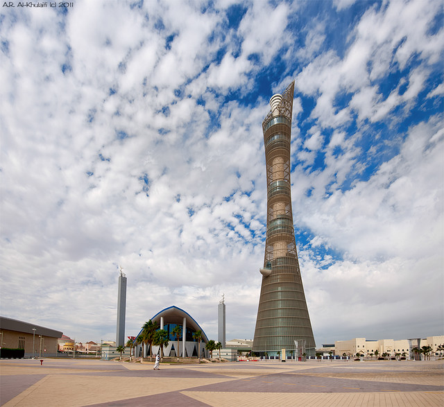 Aspire zone Mosque & The Torch Tower