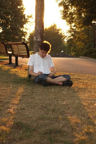 writing in the park