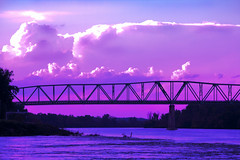 Mourning on the Missouri (Explored) (jackaloha2) Tags: bridge clouds canon river flooding nebraska historic floods missouririver brownville canoneosdigitalrebelxsi jackaloha2 mygearandme photoshopcs5