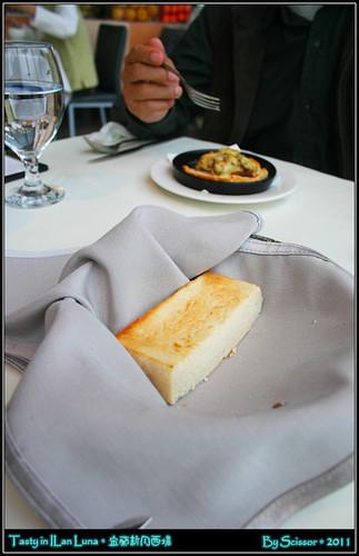 焗烤蘑菇+方塊麵包