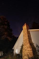 night time at my house (Mr. Greenjeans) Tags: longexposure chimney sky house home night stars louisiana nightsky 10mm canonefs1022mmf3545usm mrgreenjeans gaylon yardwalk nightphotofraphy artistpicks gaylonkeeling