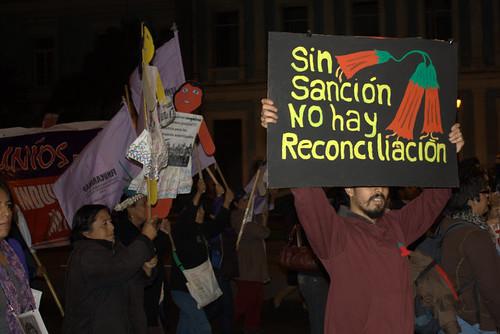 Protest march against a pardon for Fujimori