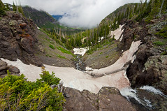Trapper's Lake Valley (Tyler Porter Photography) Tags: trees lake snow mountains clouds river waterfall high colorado rocks stream angle flat altitude sony wide tokina alpine valley area wilderness meeker alpha tops slt trappers a55 cloudsstormssunsetssunrises