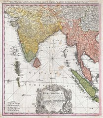 1748 - Homann Heirs Map of India and Southeast Asia
