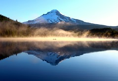 Smoke & Mirrors (Cole Chase Photography) Tags: fog oregon sunrise canon mthood t3i trilliumlake stunningphotogpin