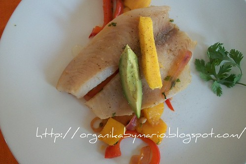Filete en chutney de mango y chipotle