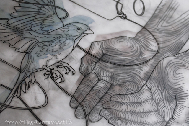 bird in hand drawing