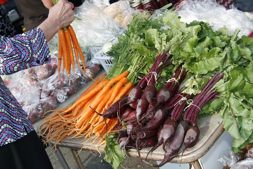 North Dakota produce at a local farmers market.  Photo Courtesy of Sue Balcom. Used with permission.