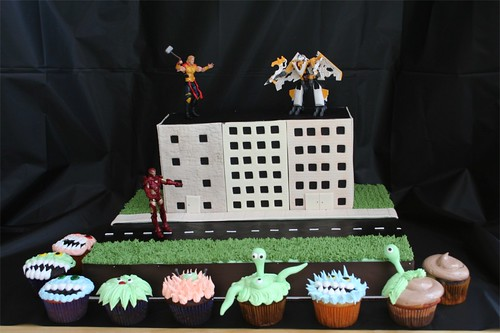 Avengers Battle Mutant Monster Cupcakes