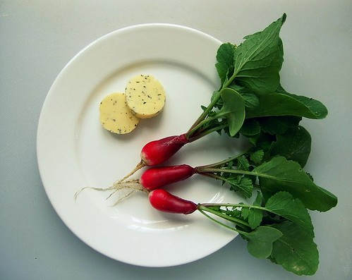 radishes summer savory butter