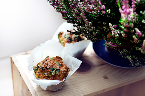 Spinach and cheddar muffins