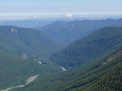 Looking down White River valley from Crystal Peak.