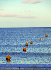 beach (megansdad) Tags: sea sky yearend buoys buoyant
