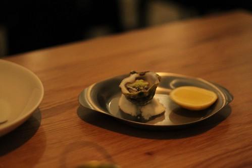 Dunalley oyster w/ wasabi