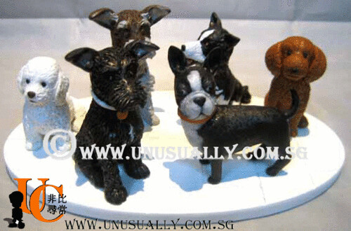 Customized & Personalized 3D Dog Figurines