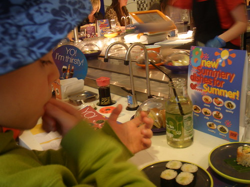 yo sushi at Harvey Nichols