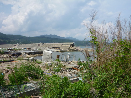 陸前高田市広田町, 陸前高田でボランティア Volunteer at Rikuzentakata, Iwate pref, Deeply Damaged Area by Japan Quake