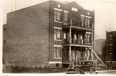 1928 Verdun, Montreal, Canada. (Can also be seen on history website WhatWasThere). (wonky knee) Tags: canada montreal 1928 apartmentblock verdun ruebannantyne bannantyneavenue willliljackson no5227