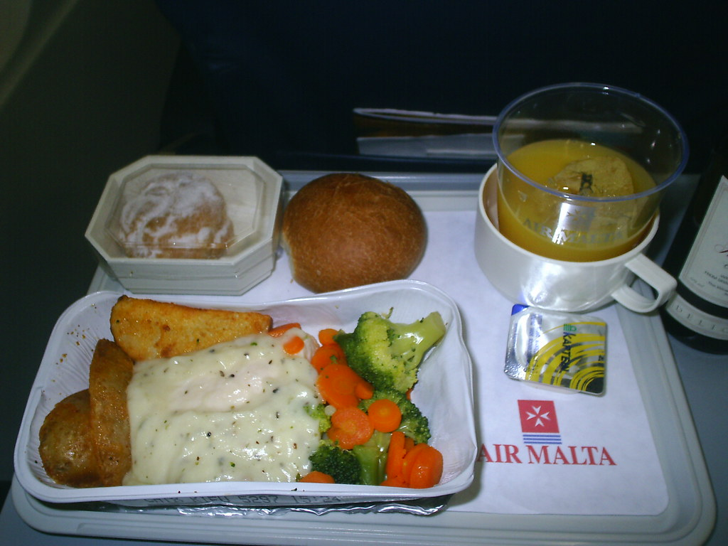 In-flight meal, Air Malta, 2006