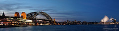 Sydney Harbour Panorama (Peter Ede) Tags: interesting sydney australia explore newsouthwales operahouse sydneyharbour sydneyharbourbridge topshots bluehourphotography